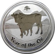 Australia 50 Cents Year of the Ox 2009 KM# 1750 YEAR OF THE OX P coin reverse