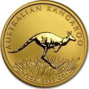 Australia 50 Dollars Australian Kangaroo 2008 KM# 1774 AUSTRALIAN KANGAROO 1/2 OZ. 9999 GOLD P coin reverse