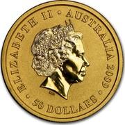 Australia 50 Dollars Australian Kangaroo 2009 KM# 1766 ELIZABETH II AUSTRALIA 2009 50 DOLLARS IRB coin obverse