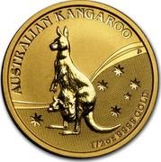 Australia 50 Dollars Australian Kangaroo 2009 KM# 1766 AUSTRALIAN KANGAROO 1/2 OZ 9999 GOLD P JG coin reverse