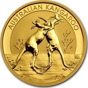 Australia 50 Dollars Australian Kangaroo 2010 KM# 1364 AUSTRALIAN KANGAROO 2010 1/2 OZ 9999 GOLD P WR coin reverse