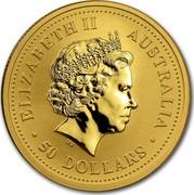 Australia 50 Dollars Climbing Monkey 2004 P Proof KM# 671 ELIZABETH II AUSTRALIA 50 DOLLARS IRB coin obverse