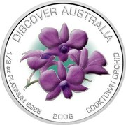Australia 50 Dollars Cooktown orchid 2006 P Proof KM# 981 coin obverse