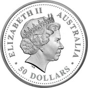 Australia 50 Dollars Cooktown orchid 2006 P Proof KM# 981 coin reverse