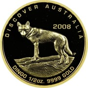 Australia 50 Dollars Dingo 2008 P Proof KM# 1199 coin obverse