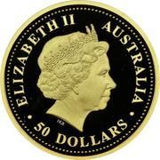 Australia 50 Dollars Dingo 2008 P Proof KM# 1199 DISCOVER AUSTRALIA coin reverse