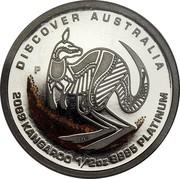 Australia 50 Dollars Discover Australia - Kangaroo 2009 KM# 1237 DISCOVER AUSTRALIA 1009 KANGAROO 1/2 OZ 9995 PLATINUM P DB coin reverse