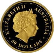 Australia 50 Dollars Grey Kangaroo 2006 P Proof KM# 955 ELIZABETH II AUSTRALIA 50 DOLLARS coin obverse