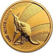 Australia 50 Dollars Kangaroo bounding at sunset 2007 P KM# 1778 THE AUSTRALIAN NUGGET 1/2 OZ 9999 GOLD 2007 coin reverse