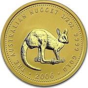 Australia 50 Dollars Kangaroo in bush 2005 KM# 913 THE AUSTRALIAN NUGGET 1/2OZ. 9999 GOLD coin reverse