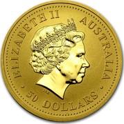 Australia 50 Dollars Kangaroos 2002 KM# 692 ELIZABETH II AUSTRALIA 50 DOLLARS IRB coin obverse