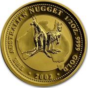 Australia 50 Dollars Kangaroos 2002 KM# 692 THE AUSTRALIAN NUGGET 1/2 OZ. 9999 GOLD 2002 MG coin reverse