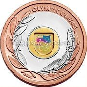 Australia 50 Dollars Olympic Games 2004 KM# 724 OLYMPIC GAMES 2004 coin reverse