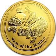 Australia 50 Dollars Year of the Rabbit 2011 KM# 1484 YEAR OF THE RABBIT P coin reverse