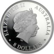 Australia 8 Dollars Australian Koala 2012 KM# 1841 ELIZABETH II AUSTRALIA 8 DOLLARS IRB coin obverse