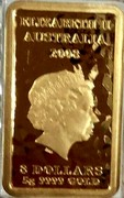 Australia 8 Dollars Chinese Mythological Character - Wealth 2008 P KM# 1269 ELIZABETH II AUSTRALIA 2008 8 DOLLARS 5G 9999 GOLD coin obverse