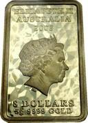 Australia 8 Dollars Mythological Characters - Fortune 2008 KM# 1272 ELIZABETH II AUSTRALIA 2008 8 DOLLARS 5 G 9999 GOLD IRB coin obverse