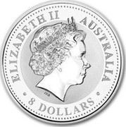 Australia 8 Dollars Year of the Pig 2007 KM# 1756 ELIZABETH II AUSTRALIA 8 DOLLARS IRB coin obverse