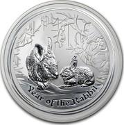 Australia 8 Dollars Year of the Rabbit 2011 KM# 1477 YEAR OF THE RABBIT P coin reverse