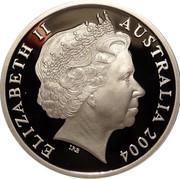 Australia Five Dollars Australia's Own Game 2004 KM# 855 ELIZABETH II AUSTRALIA 2004 IRB coin obverse