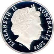 Australia Five Dollars Centenary of Rugby League 2008 KM# 1053 ELIZABETH II AUSTRALIA 2008 IRB coin obverse