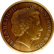 Australia Five Dollars Perth Town Hall 2012 KM# 1747 ELIZABETH II AUSTRALIA 2012 IRB coin obverse