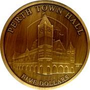 Australia Five Dollars Perth Town Hall 2012 KM# 1747 PERTH TOWN HALL FIVE DOLLARS AS coin reverse
