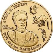 Australia One Dollar Ethel C. Pedley 2012 Proof KM# 1711 ETHEL C. PEDLY ONE DOLLAR DOT AND THE KANGAROO coin reverse