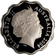 Australia One Dollar Five Kangaroos Scalloped 2004 Proof ELIZABETH II AUSTRALIA 2004 IRB coin obverse