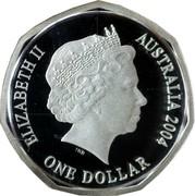 Australia One Dollar Imperial Test Dollar 2004  ELIZABETH II AUSTRALIA 2004 ONE DOLLAR coin obverse