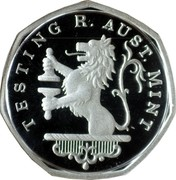 Australia One Dollar Imperial Test Dollar 2004  TESTING R. AUST. MINT coin reverse