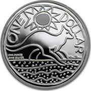 Australia One Dollar Kangaroo 2009 KM# 1083 ONE DOLLAR ONE OUNCE FINE SILVER coin reverse