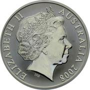 Australia One Dollar Kangaroo with ball 2008 KM# 1061 ELIZABETH II AUSTRALIA 2008 IRB coin obverse