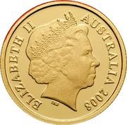 Australia Ten Dollars Centenary of Rugby League 2008 Proof KM# 1054 ELIZABETH II AUSTRALIA 2008 coin obverse