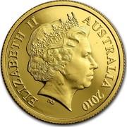 Australia Ten Dollars Kangaroo right on rocks 2010 P Proof KM# 1763 ELIZABETH II AUSTRALIA 2010 IRB coin obverse