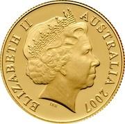 Australia Ten Dollars Rolf Harris Kangaroo 2007 P KM# 851d ELIZABETH II AUSTRALIA 2007 coin obverse