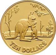 Australia Ten Dollars Rolf Harris Kangaroo 2007 P KM# 851d TEN DOLLARS coin reverse