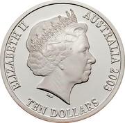 Australia Ten Dollars Standing Kangaroo 2003 KM# 766 ELIZABETH II AUSTALIA 2003 TEN DOLLARS IRB coin obverse