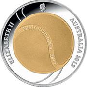 Australia Two Dollars Australian Open 2012 2012 KM# 1740 ELIZABETH II AUSTRALIA 2012 AUSTRALIAN OPEN 2012 coin obverse