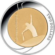 Australia Two Dollars Australian Open 2012 2012 KM# 1740 TWO DOLLARS 100TH MEN'S CHAMPION coin reverse