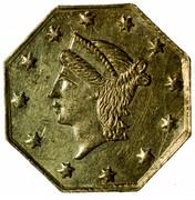 USA 1/4 Dollar Liberty Octagonal 1855 KM# 1.6 - coin obverse
