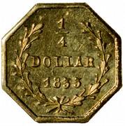 USA 1/4 Dollar Liberty Octagonal 1855 KM# 1.6 1/4 DOLLAR *YEAR* coin reverse