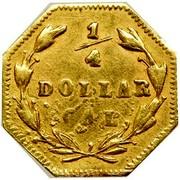 USA 1/4 Dollar Liberty Octagonal 1870 KM# 1.8 1/4 DOLLAR CAL coin reverse