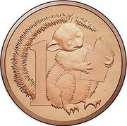 Australia 1 Cent Possum 2017 1 coin reverse