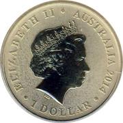 Australia 1 Dollar 100th Anniversary of Australian Red Cross (Aluminum-Bronze) 2014  ELIZABETH II AUSTRALIA 2014 1 DOLLAR IRB coin obverse