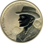 """Australia 1 Dollar 150th Anniversary of Banjo Paterson 2014  A.B. """"BANJO"""" PATERSON 1864-1941 P coin reverse"""