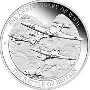 Australia 1 Dollar 75th Anniversary of WWII- The Battle of Britain 2015  75TH ANNIVERSARY OF WWII 1OZ 999 SILVER THE BATTLE OF BRITAIN P coin reverse