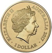 Australia 1 Dollar A War Close to Home - Kokoda Track 2017  ELIZABETH II AUSTRALIA 2017 1 DOLLAR IRB coin obverse