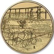 Australia 1 Dollar A War Close to Home - Kokoda Track 2017  1 DOLLAR KOKODA TRACK coin reverse