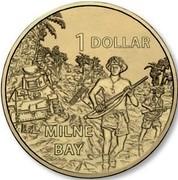 Australia 1 Dollar A War Close to Home - Milne Bay 2017  1 DOLLAR MILNE BAY coin reverse